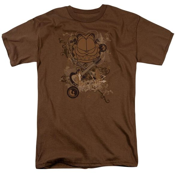 GARFIELD ROCK RULES - S/S ADULT 18/1 - COFFEE T-Shirt