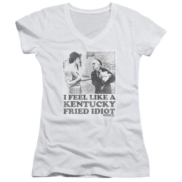 Rocky Fried Idiot Junior V Neck T-Shirt