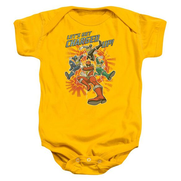 Power Rangers Charged Up Infant Snapsuit Gold