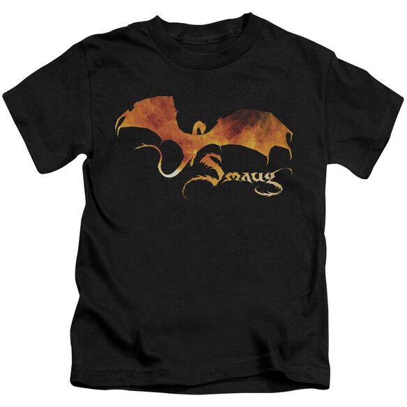 Hobbit Smaug On Fire Short Sleeve Juvenile T-Shirt