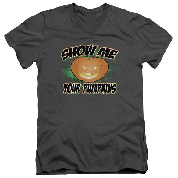 Show Me Short Sleeve Adult V Neck T-Shirt