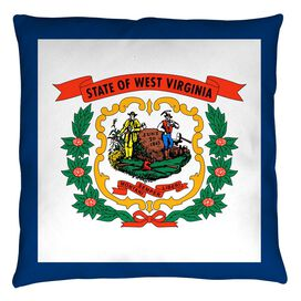 West Virginia Flag Throw Pillow