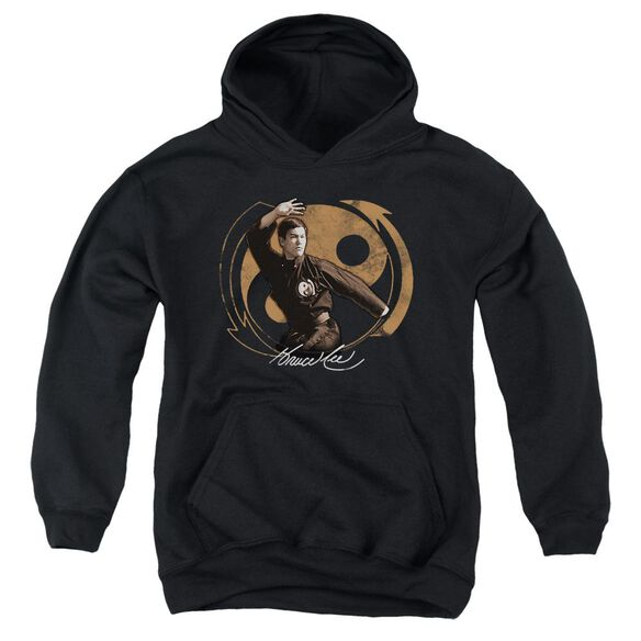 Bruce Lee Jeet Kun Do Pose Youth Pull Over Hoodie