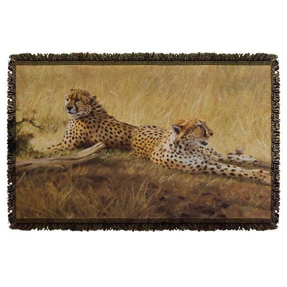 Wild Wings African Cats 2 Woven Throw