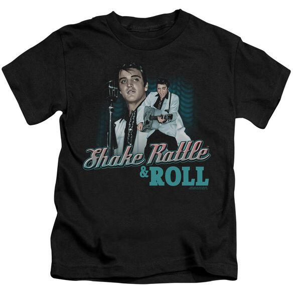 Elvis Shake Rattle & Roll Short Sleeve Juvenile Black T-Shirt