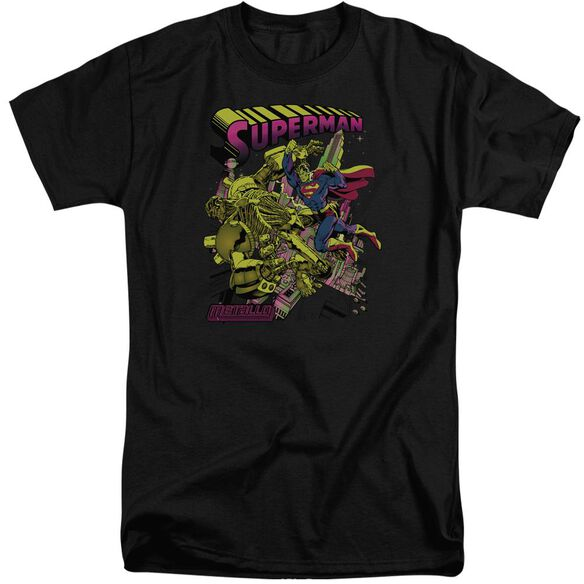 Superman Versus Metallo Blacklight Short Sleeve Adult Tall T-Shirt