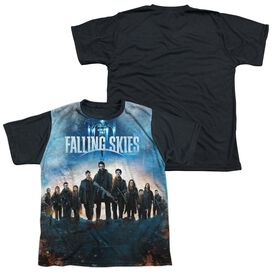 Falling Skies Battle Short Sleeve Youth Front Black Back T-Shirt