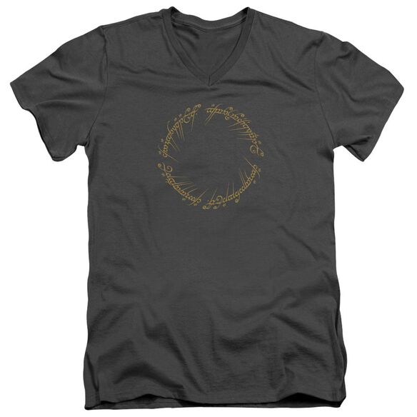 Lord Of The Rings One Ring Short Sleeve Adult V Neck T-Shirt