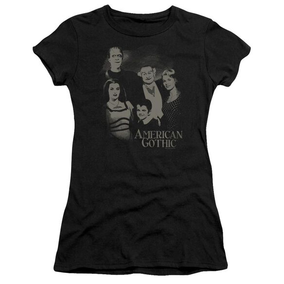 The Munsters American Gothic Short Sleeve Junior Sheer T-Shirt