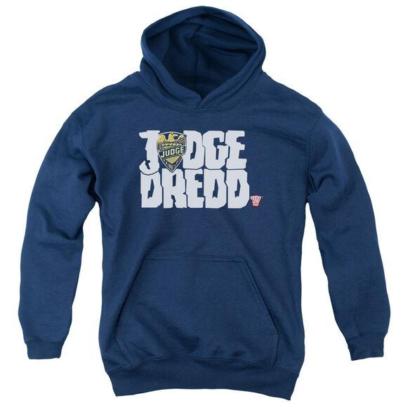 Judge Dredd Logo Youth Pull Over Hoodie