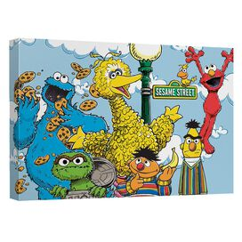 Sesame Street Retro Gang Quickpro Artwrap Back Board
