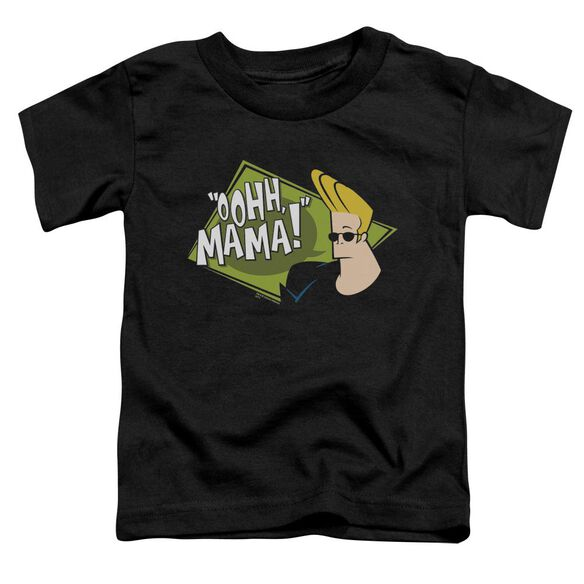 Johnny Bravo Oohh Mama Short Sleeve Toddler Tee Black Sm T-Shirt