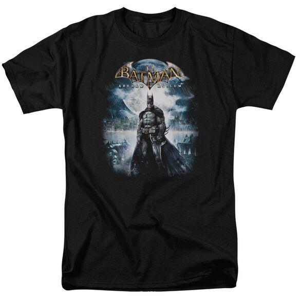 BATMAN AA GAME COVER-S/S ADULT 18/1 - BLACK T-Shirt