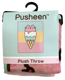 Pusheen Ice Cream Throw Blanket