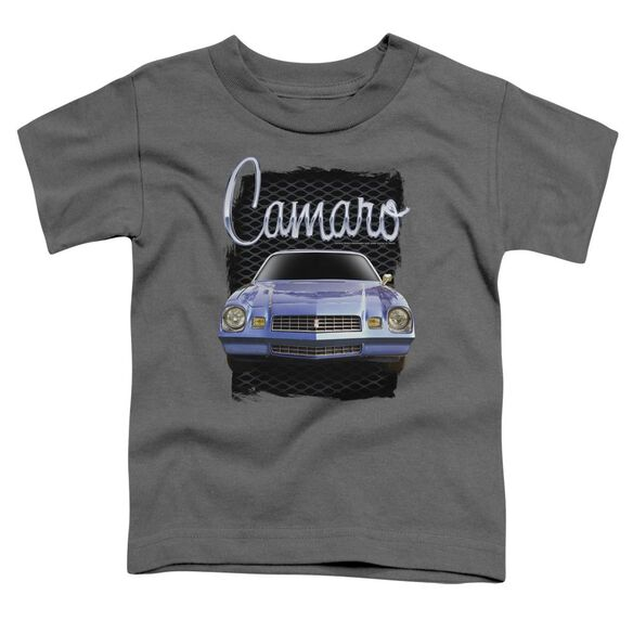 Chevrolet Yellow Camaro Short Sleeve Toddler Tee Charcoal T-Shirt