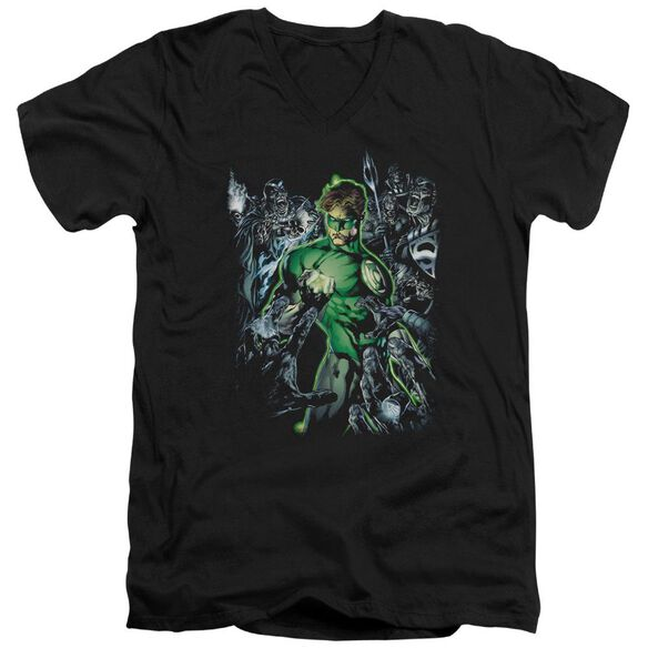 Green Lantern Surrounded By Death Short Sleeve Adult V Neck T-Shirt