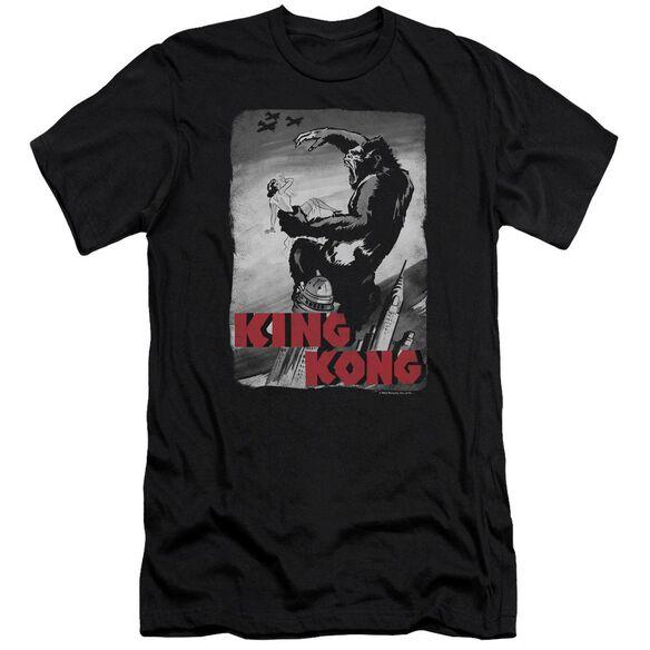 King Kong Planes Poster Premuim Canvas Adult Slim Fit