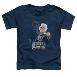 Super Mansion Titanium Rex Short Sleeve Toddler Tee Navy T-Shirt