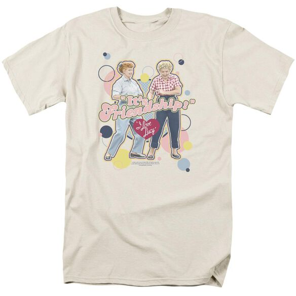 I Love Lucy Its Friendship Short Sleeve Adult Cream T-Shirt