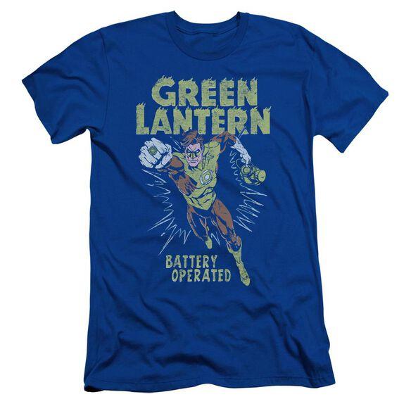 Green Lantern Fully Charged Short Sleeve Adult Royal T-Shirt