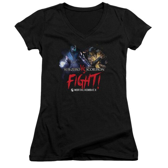 Mortal Kombat X Fight Junior V Neck T-Shirt