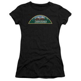 Twin Peaks Sheriff Department Short Sleeve Junior Sheer T-Shirt