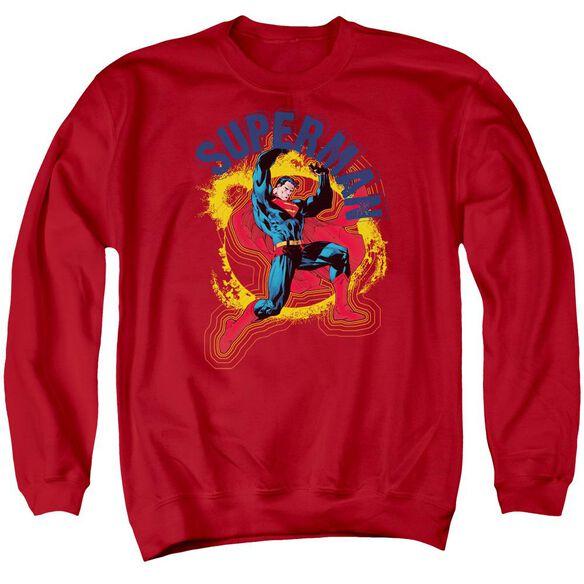 Superman A Name To Uphold Adult Crewneck Sweatshirt