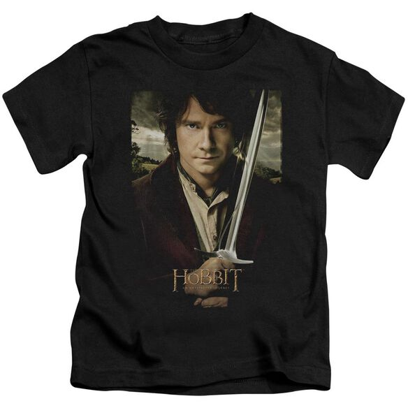 The Hobbit Baggins Poster Short Sleeve Juvenile Black T-Shirt