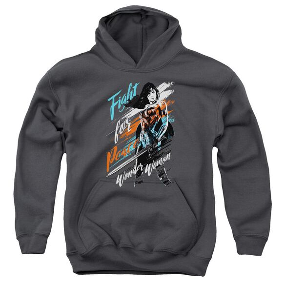 Wonder Woman Movie Fight For Peace Youth Pull Over Hoodie
