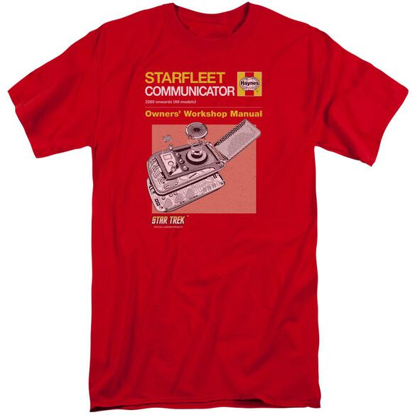 Star Trek Comm Manual Short Sleeve Adult Tall T-Shirt