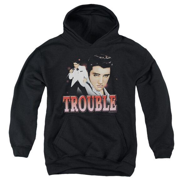 Elvis Presley Trouble Youth Pull Over Hoodie