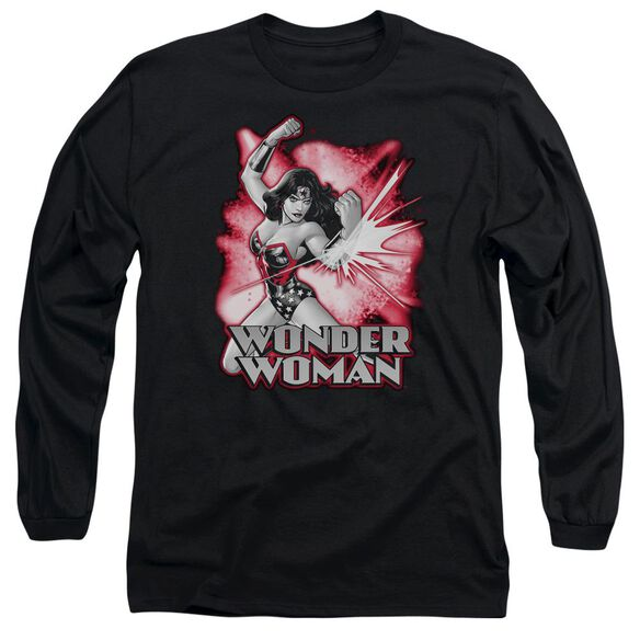 Jla Wonder Woman Red & Gray Long Sleeve Adult T-Shirt