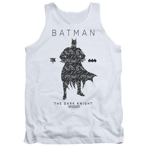 Batman Paislety Silhouette Adult Tank