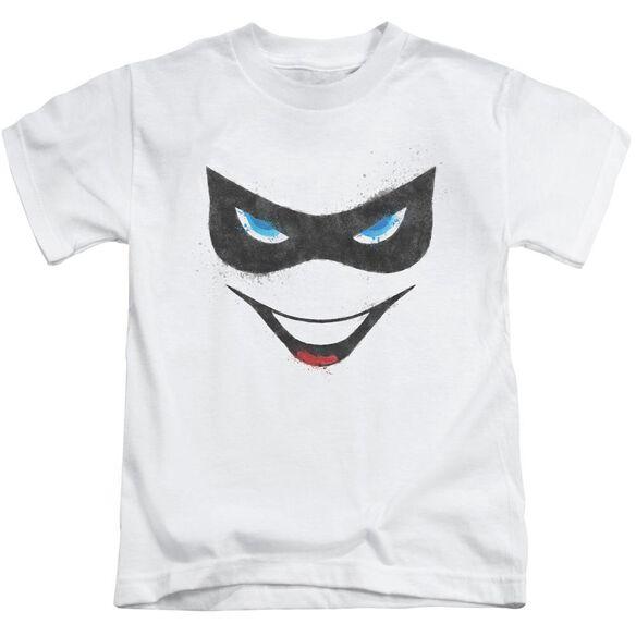 Batman Harley Face Short Sleeve Juvenile White Md T-Shirt