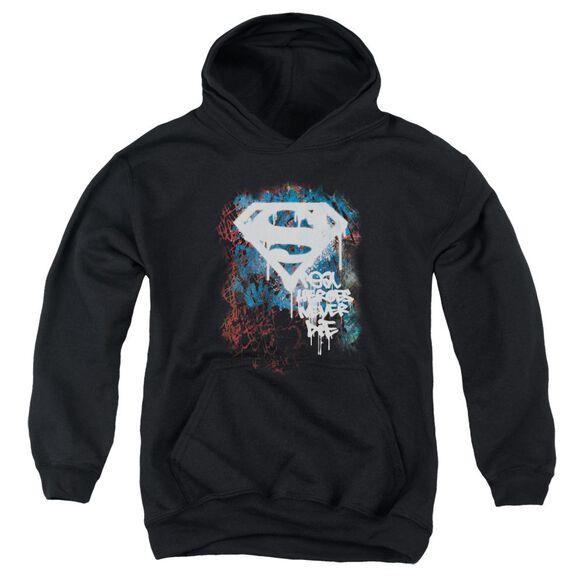 Superman Real Heroes Never Die Youth Pull Over Hoodie