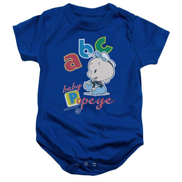 Popeye Abc Infant Snapsuit Royal Blue Lg