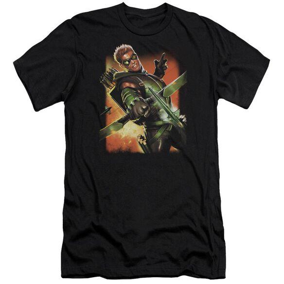 Jla Green Arrow #1 Premuim Canvas Adult Slim Fit