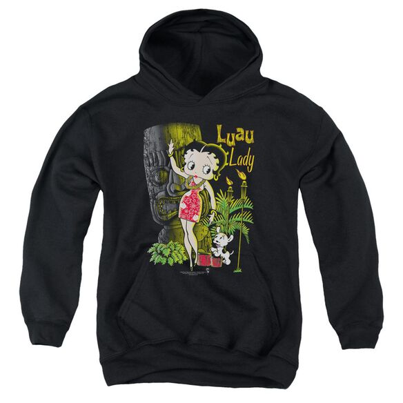 Betty Boop Luau Lady Youth Pull Over Hoodie