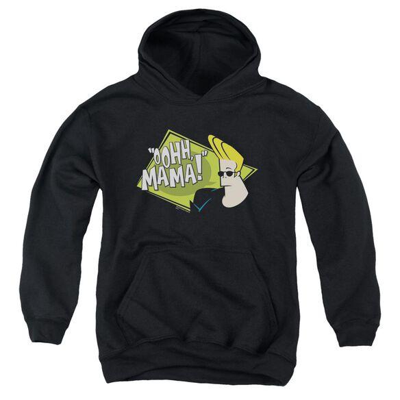 Johnny Bravo Oohh Mama-youth Pull-over Hoodie - Black