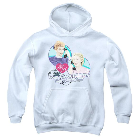 I Love Lucy Always Connected Youth Pull Over Hoodie