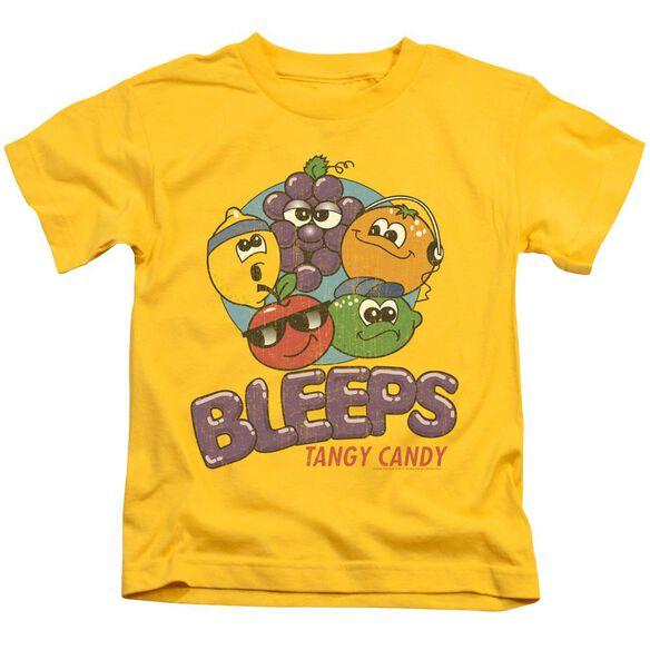 Dubble Bubble Bleeps Short Sleeve Juvenile Yellow T-Shirt