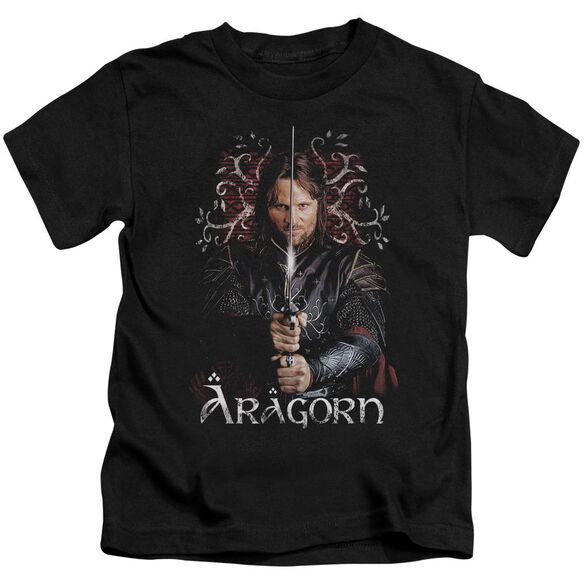 Lor Aragorn Short Sleeve Juvenile Black T-Shirt
