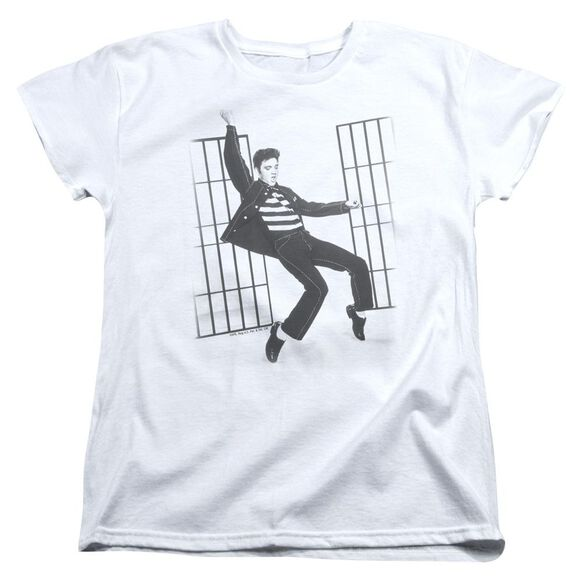 Elvis Presley Jailhouse Rock Short Sleeve Womens Tee White T-Shirt