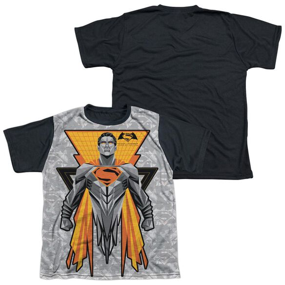 Batman V Superman Super Tech Sub Short Sleeve Youth Front Black Back T-Shirt