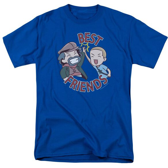 Valiantbest Friends Emoji Short Sleeve Adult Royal T-Shirt