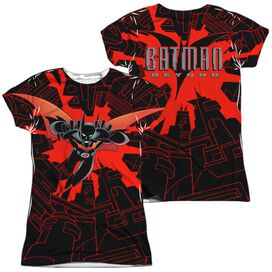 Batman Beyond Drop Down (Front Back Print) Short Sleeve Junior Poly Crew T-Shirt