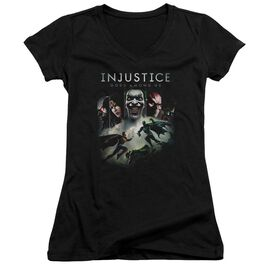 Injustice Gods Among Us Key Art Junior V Neck T-Shirt