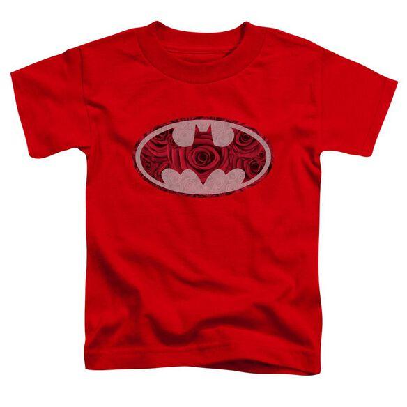 Batman Rosey Signal Short Sleeve Toddler Tee Red T-Shirt