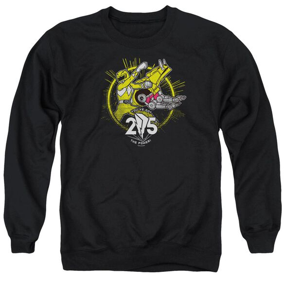 Power Rangers Yellow 25 Adult Crewneck Sweatshirt