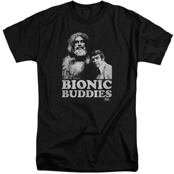 Six Million Dollar Man Bionic Buddies Short Sleeve Adult Tall T-Shirt